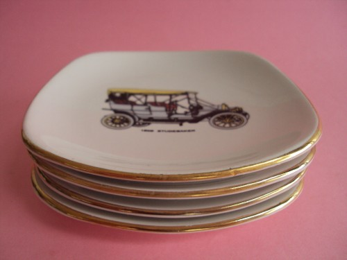 Stack of 4 small Drostdy plates