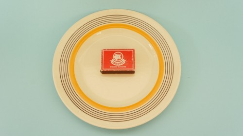Royal Doulton Marquis serving plate with matchbox
