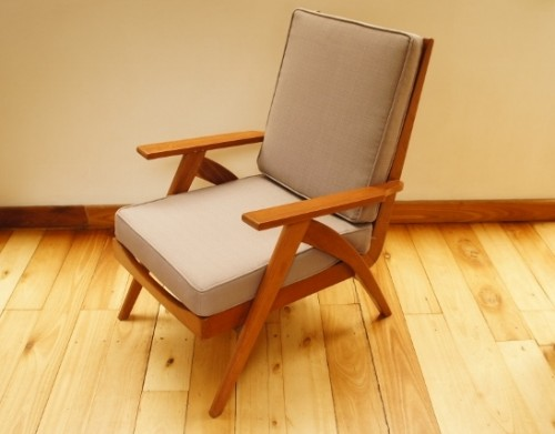 Retro wooden armchair