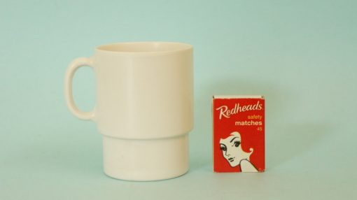 Retro Eileen melamine mug with matchbox
