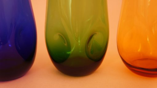 Detail of dimpled glass