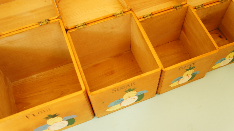 wooden kitchen canisters set mint the shop 45 vintage wooden kitchen canister set kitchen pinterest